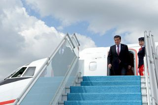 President of Kyrgyzstan leaves for Brussels