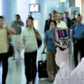 Thermal imager identifies potential patients of swine flu at airports in Kyrgyzstan